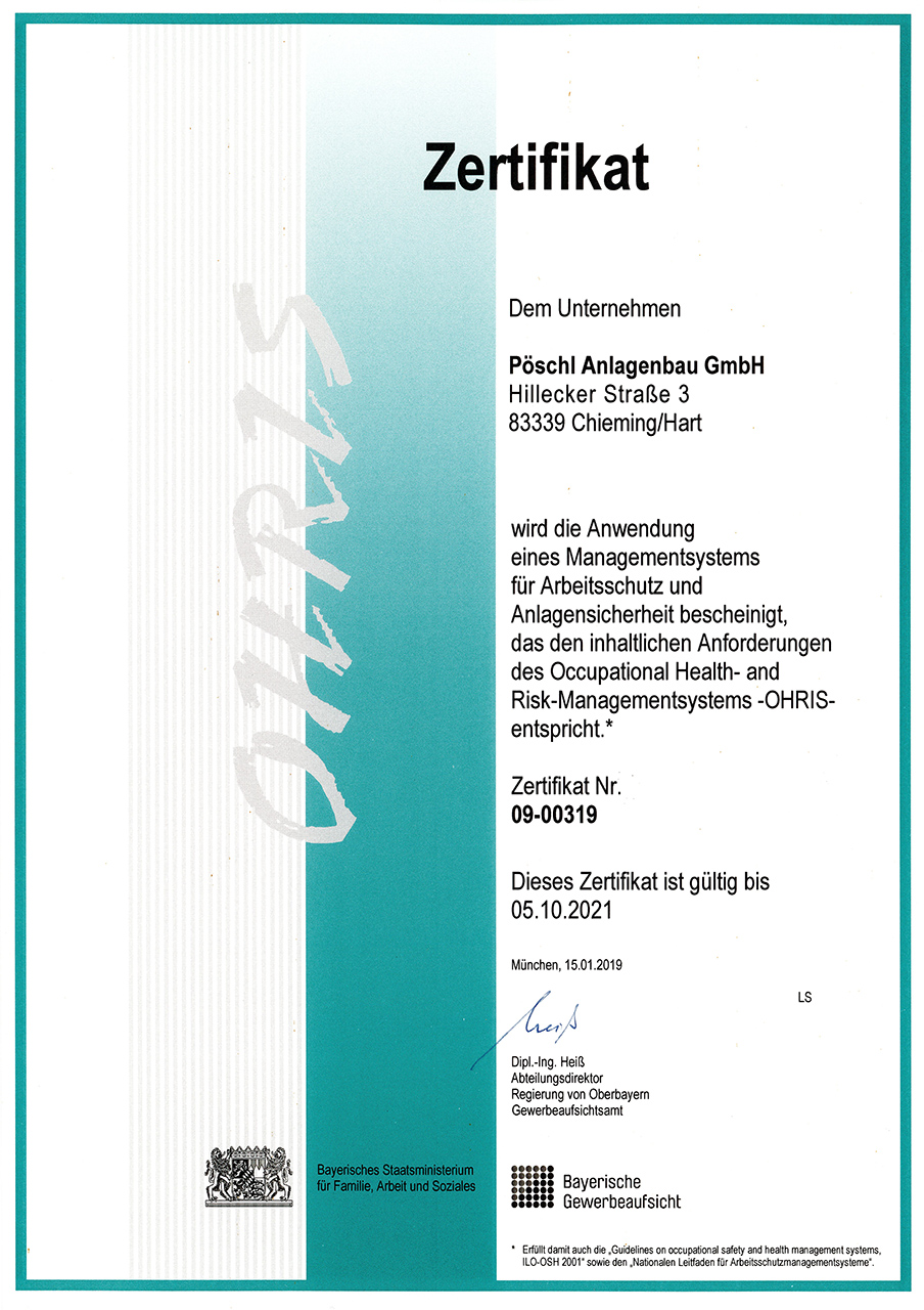 ohris-zertifikat_poeschl_anlagenbau