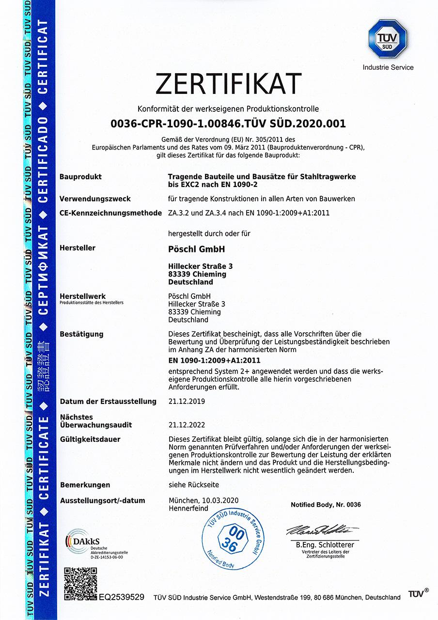 TUEV-sued-zertifikat-tragende-bauteile-stahltragwerke_poeschl_anlagenbau